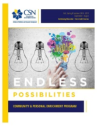 Image of the cover of the current Community and Personal Enrichment Catalog.