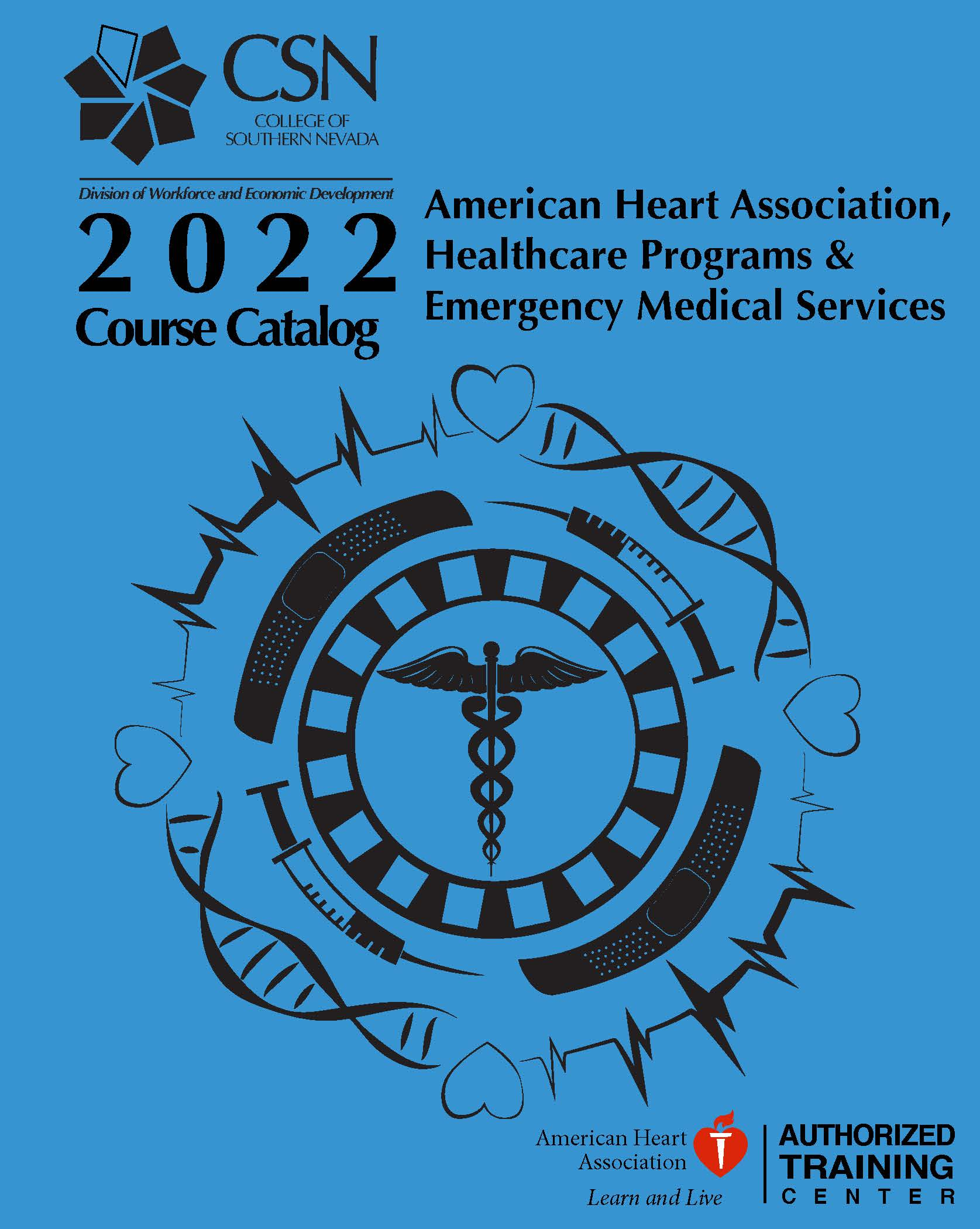 Image of the front cover of the 2012 Healthcare Class schedule.