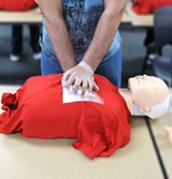 This is an image of a person performing CPR.